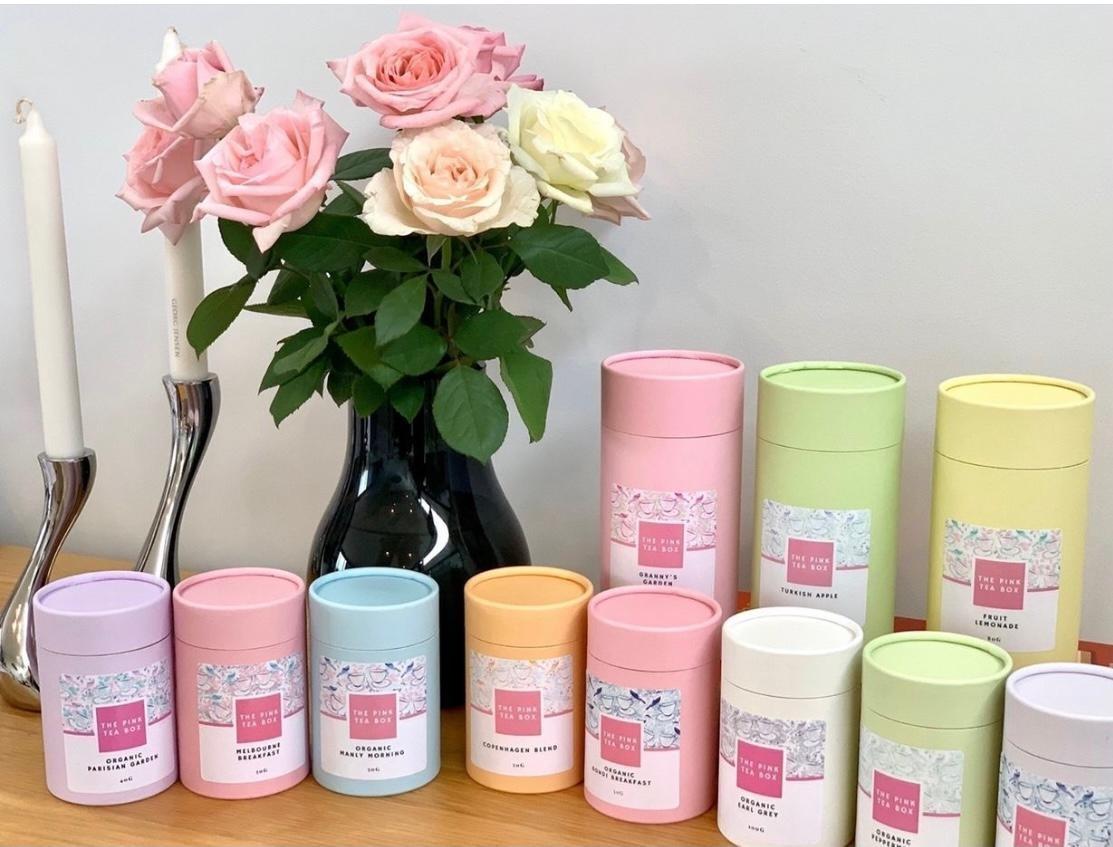Pink Tea Box
